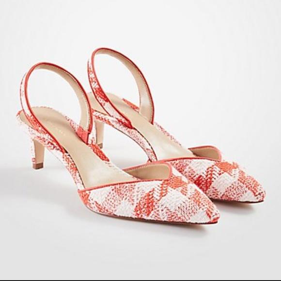 149dccb5839c Ann Taylor Shoes - Ann Taylor Plaid Slingback Pumps NEW
